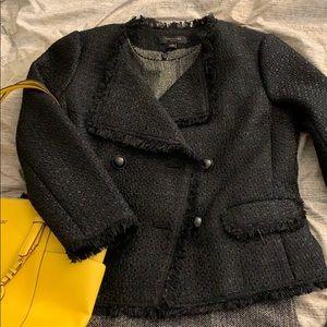 NWT Ann Taylor Black Fringe Jacket